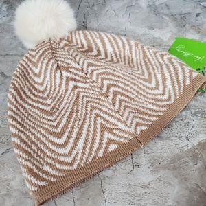 Vera Bradley cozy knit Zebra Pompom Hat